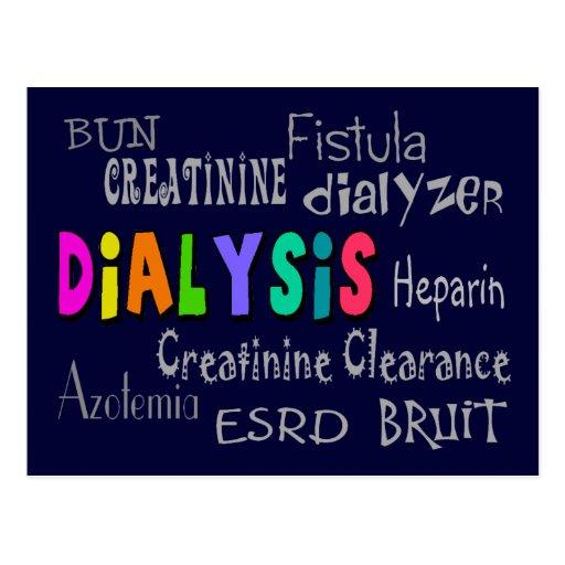 Dialysis Terminology Gifts Postcard