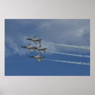Diamante 2010 de los Thunderbirds del U.S.A.F. Póster