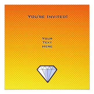 """Diamante amarillo-naranja invitación 5.25"""" x 5.25"""""""