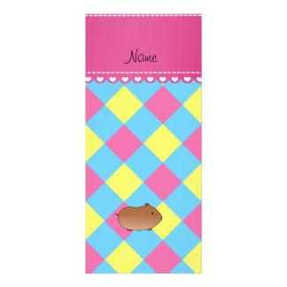 Diamante amarillo rosado azul personalizado del diseño de tarjeta publicitaria