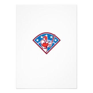 Diamante americano del palo del bateador del talud anuncio personalizado