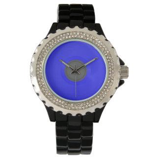 Diamante artificial con el esmalte negro, DISCO DE Reloj De Mano