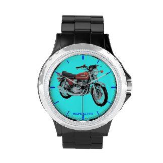 Diamante artificial con la bici negra de GT del Relojes De Pulsera