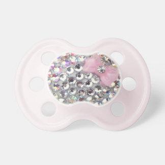 Diamante artificial cristalino con el pacificador chupetes
