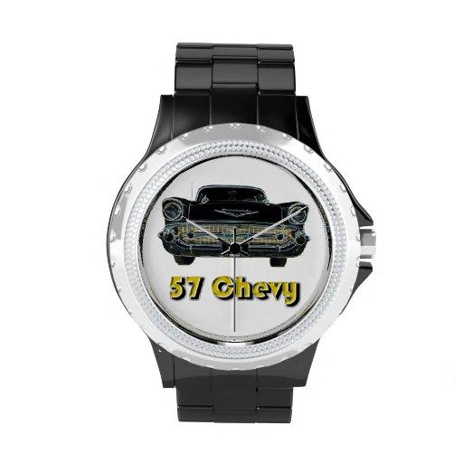 Diamante artificial de 57 Chevy con el reloj negro