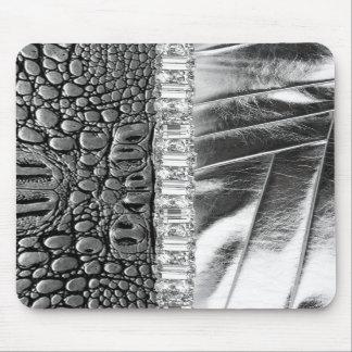 Diamante artificial de cuero metálico Mousepad del