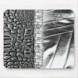 Diamante artificial de cuero metálico Mousepad del Tapetes De Raton