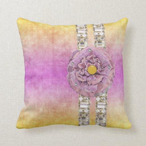 Diamante artificial de la flor de TyeDye que hace  Almohada