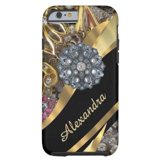 Diamante artificial elegante elegante funda de iPhone 6 tough