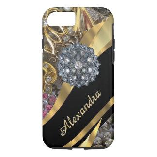 Diamante artificial elegante elegante funda iPhone 7