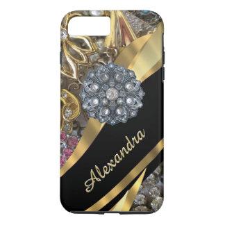 Diamante artificial elegante elegante funda iPhone 7 plus
