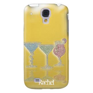 Diamante artificial iPhone3G de la hora del cóctel Funda Samsung S4