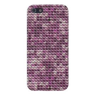 Diamante artificial púrpura iPhone 5 cárcasa
