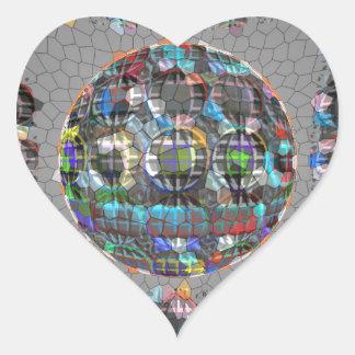Diamante artístico pintado Digital Pegatina En Forma De Corazón