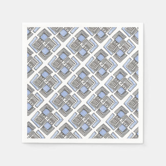 Diamante azul abstracto - dibujo de la tinta servilletas desechables