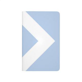Diamante azul claro, frontera blanca intrépida cuaderno