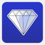 Diamante azul colcomanias cuadradas