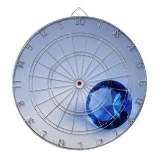 Diamante azul tablero de dardos