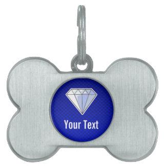 Diamante azul placas de mascota