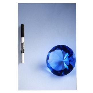 Diamante azul tableros blancos