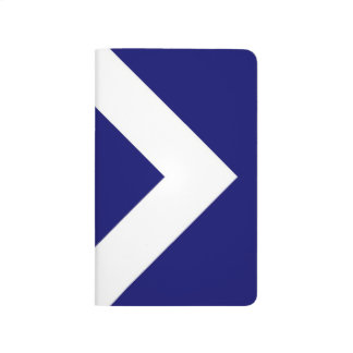 Diamante azul profundo, frontera blanca intrépida cuadernos