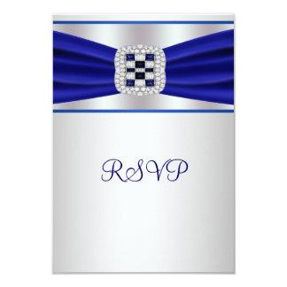 """Diamante azul RSVP del zafiro Invitación 3.5"""" X 5"""""""