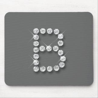 Diamante B inicial Tapete De Ratón