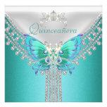 Diamante blanco azul de la mariposa del trullo de  comunicados personales