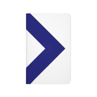 Diamante blanco, frontera azul intrépida cuadernos grapados