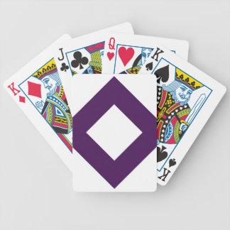 Diamante blanco, frontera púrpura intrépida barajas de cartas
