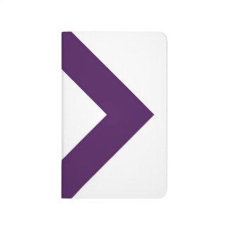 Diamante blanco, frontera púrpura intrépida cuaderno grapado