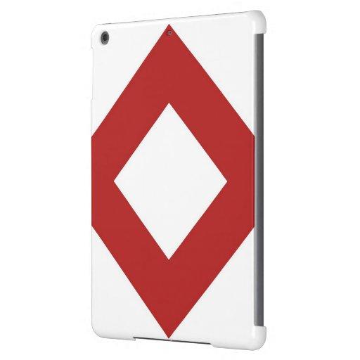 Diamante blanco, frontera roja intrépida carcasa iPad air