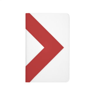 Diamante blanco, frontera roja intrépida cuaderno grapado