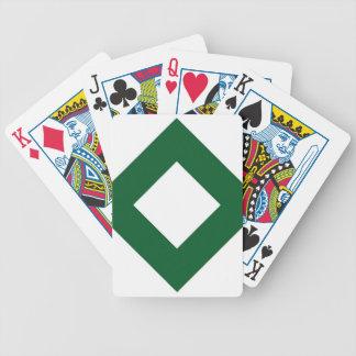 Diamante blanco, frontera verde intrépida baraja
