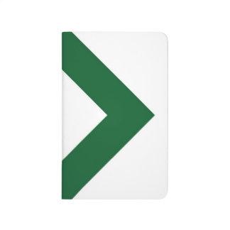 Diamante blanco, frontera verde intrépida cuaderno