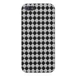 Diamante blanco y negro del Harlequin iPhone 5 Cárcasas
