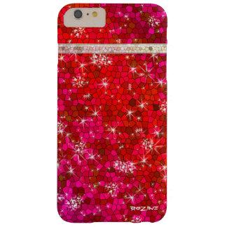 Diamante Bling de princesa Goddess Ruby Red Funda Para iPhone 6 Plus Barely There