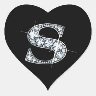 """Diamante Bling de """"R"""" en el pegatina negro del"""