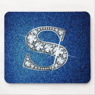 Diamante Bling en el dril de algodón Mousepad Tapete De Ratón