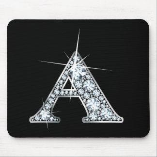 """Diamante Bling Mousepad de """"A"""""""