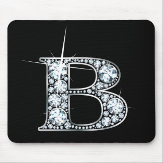 "Diamante Bling Mousepad de ""B"""