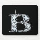 """Diamante Bling Mousepad de """"B"""" Tapetes De Ratones"""