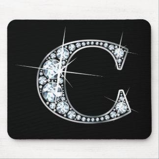 "Diamante Bling Mousepad de ""C"""