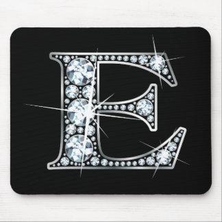 """Diamante Bling Mousepad de """"E"""""""