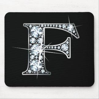 "Diamante Bling Mousepad de ""F"""