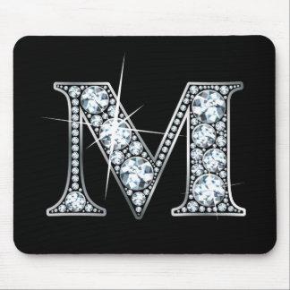 """Diamante Bling Mousepad de """"M"""""""