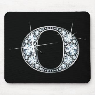 """Diamante Bling Mousepad de """"O"""""""