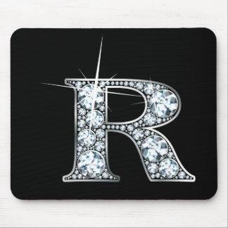 """Diamante Bling Mousepad de """"R"""""""