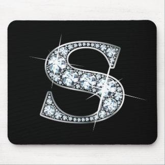 """Diamante Bling Mousepad de """"S"""""""