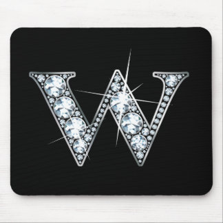 "Diamante Bling Mousepad de ""W"""